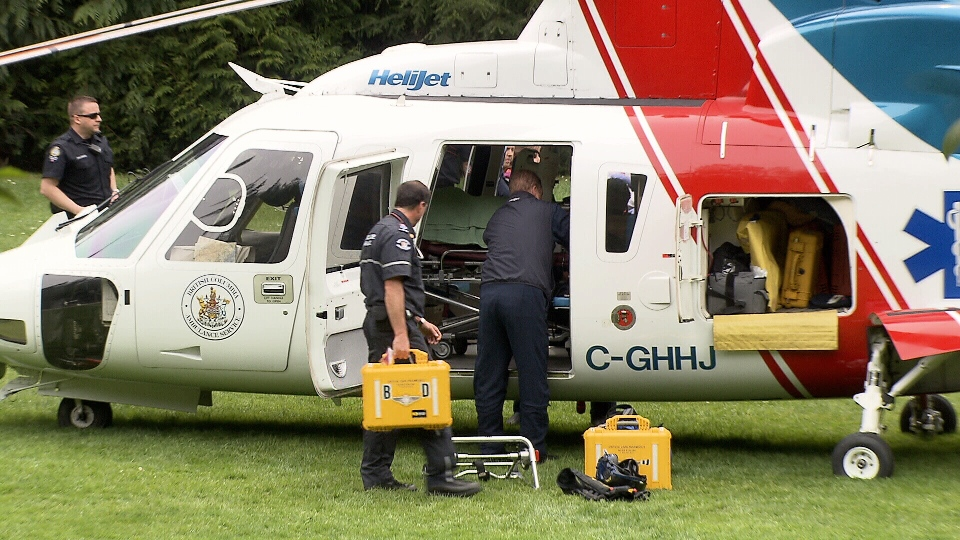 A Grade 8 boy from West Vancouver suffered some broken bones in a fall off a cliff during a school field trip this morning. (CTV)