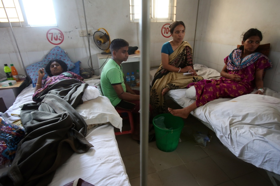 Survivors who suffered amputations while being rescued from last week's collapse of a garment factory building rest at the Enam Medical College  in Savar, near Dhaka, Bangladesh, Thursday, May 2, 2013. (AP / Wong Maye-E)