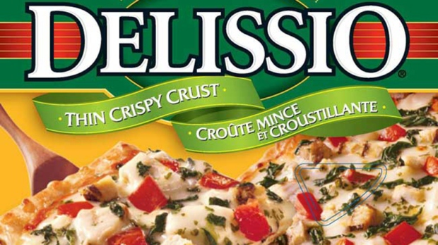 Delissio brand pizza box