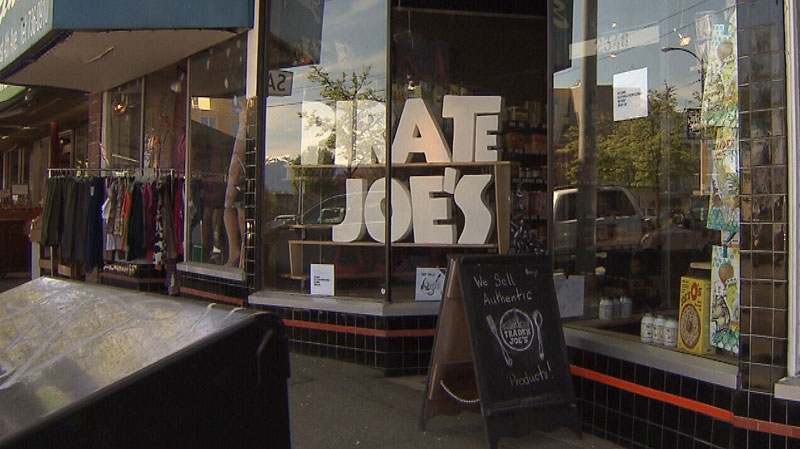 The owner of Pirate Joe's in Vancouver is being sued for re-selling groceries bought at Trader Joe's locations in Washington state. May 3, 2013. (CTV)