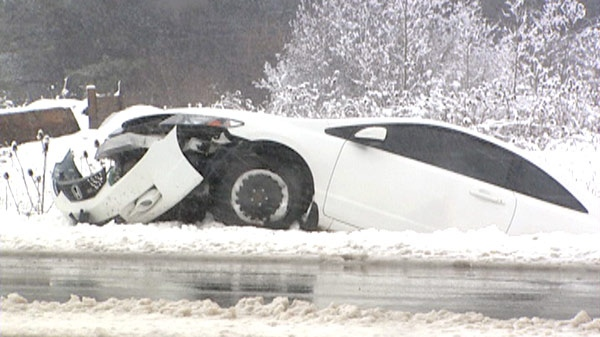 There Were Numerous Crashes In Waterloo Region And Across Southwestern Ontario Due To The Weather On