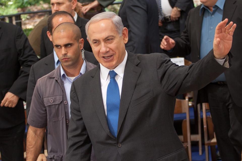 Israeli Prime Minister Benjamin Netanyahu attends the weekly cabinet meeting at the Herzl Museum, in Jerusalem, Israel, May 5, 2013. (AP Photo/Emil Salman, Pool)