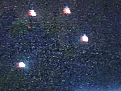 This image is taken from home video of the lights taken in the vicinity of Phoenix, Arizona on Monday, April 21, 2008.