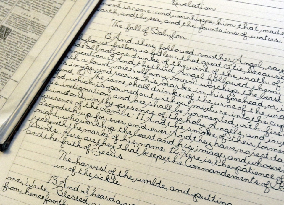 NY Man Nearly Finished Handwriting KJV Bible After 4 Years
