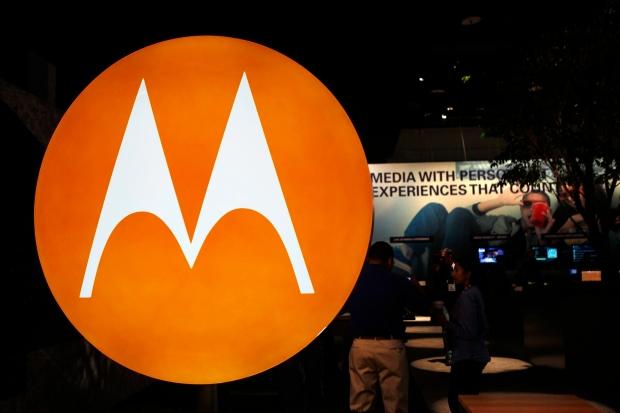 The Motorola logo on Jan. 9, 2010.