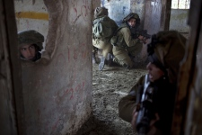 Israel soliders Syria airstrike