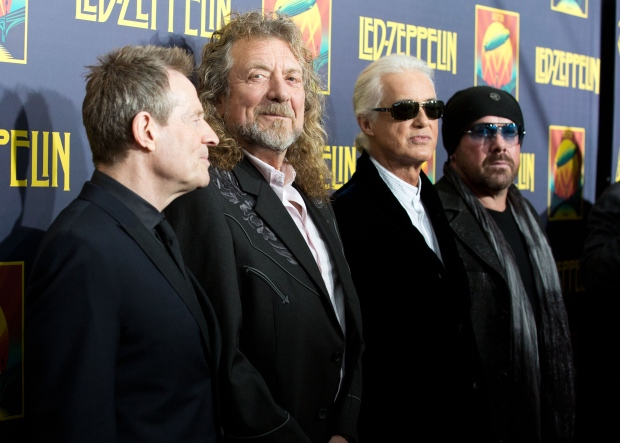 Led Zeppelin members on Oct. 9, 2012