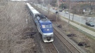 A commuter train belonging to the AMT regional train system. (Jean-Luc Boulch / CTV Montreal)