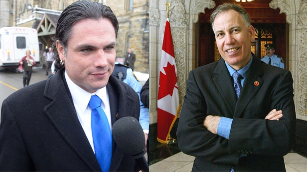 Sen. Patrick Brazeau and Sen. Mac Harb are shown in this composite image. (The Canadian Press)