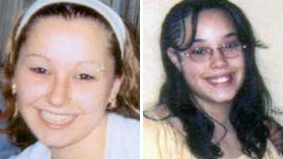 Amanda Berry, left, and Georgina 'Gina' Dejesus went missing a decade ago were found on Monday, May 6, 2013, elating family members and friends who'd longed to see them again. (FBI)