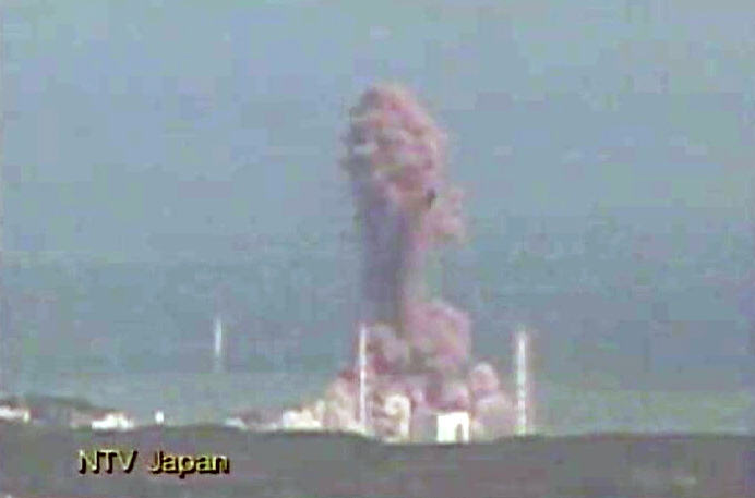 A second explosion in three days rocks Japan's stricken Fukushima Daiichi nuclear plant Monday morning, March 14, 2011.