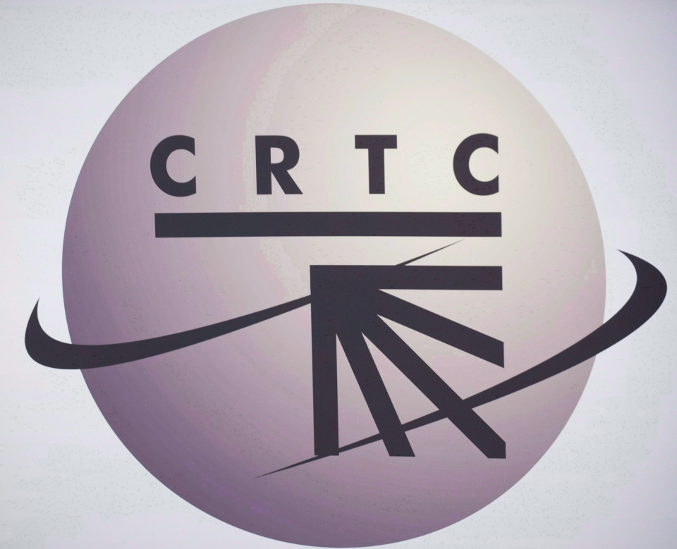 A CRTC logo is shown in Montreal. (The Canadian Press/Graham Hughes)