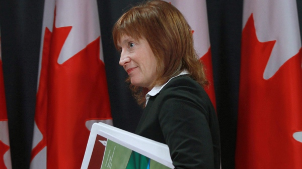Information Commissioner Suzanne Legault holds a news conference to release her report entitled Out of Time during a news conference in Ottawa, Tuesday, April 13, 2010. (Fred Chartrand / THE CANADIAN PRESS)