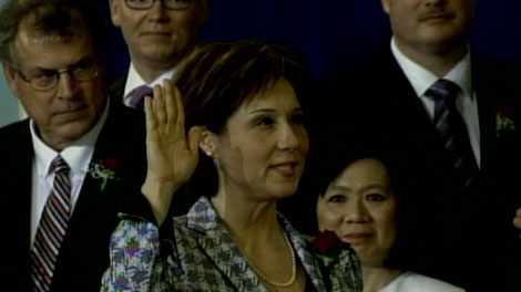 Christy Clark is sworn in as premier of B.C. March 14, 2011. (CTV)