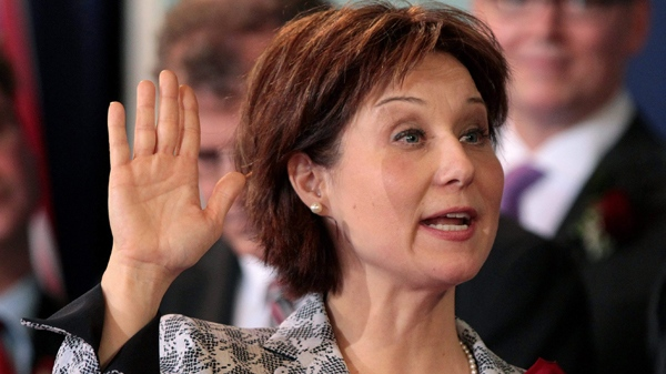 British Columbia Premier Christy Clark is sworn-in at Government House in Victoria, B.C., on Monday March 14, 2011. (Darryl Dyck / THE CANADIAN PRESS)