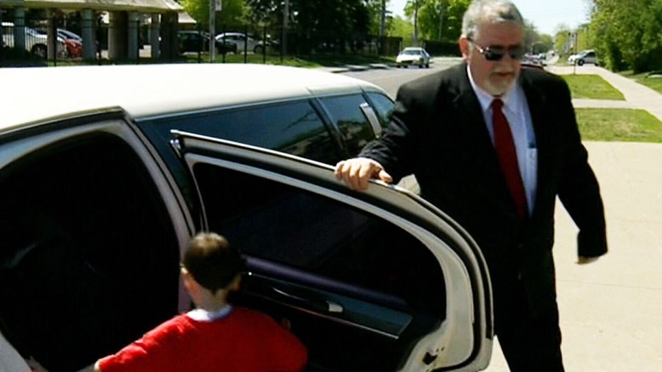 Senators' limo driver Donald Racine gets ready to drive the Penner family from Montreal to the playoff game Tuesday, May 7, 2013.