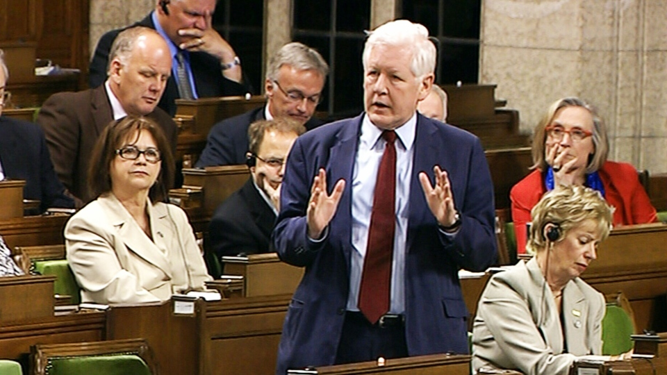 Liberal MP Bob Rae speaks at an emergency debate on response to crisis in Syria in Ottawa on Tuesday, May 7, 2013.