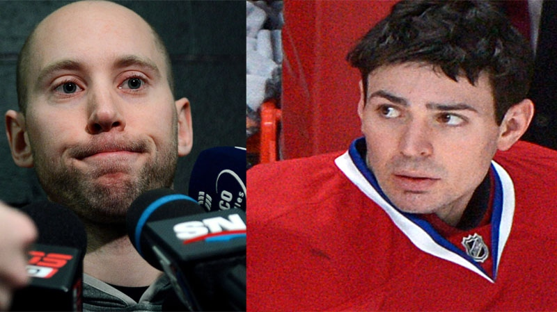 Craig Anderson, left, and Carey Price, seen in these CP file photos, managed to turn back all nine shots they each faced in the first period Tuesday.
