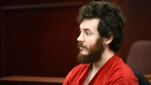 Theater shooting suspect James Holmes sits in the courtroom during his arraignment in Centennial, Colo., March 12, 2013. (Denver Post, RJ Sangosti)
