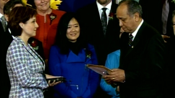 Christy Clark is sworn in as Premier of B.C. on Monday, March 14, 2011.