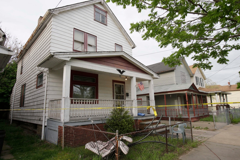 A house where three women escaped is shown in Cleveland, Tuesday, May 7, 2013. (AP / Tony Dejak)