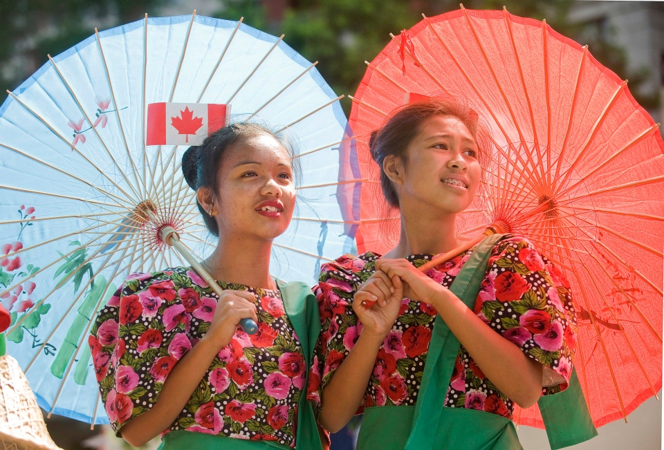 Members of the Filipino community take part in the annual Canada Day parade in Montreal in this July 1, 2012 file photo. (Graham Hughes/THE CANADIAN PRESS)