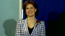 B.C. Premier Christy Clark is seen at her swearing-in ceremony, Monday, March 14, 2011.