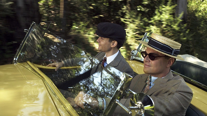 Tobey Maguire as Nick Carraway and Leonardo DiCaprio as Jay Gatsby in a scene from Warner Bros. Pictures Canada's 'The Great Gatsby'