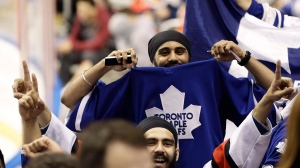 A Toronto Maple Leafs fan is seen in this 2013 file image. (AP Photo / J Pat Carter)