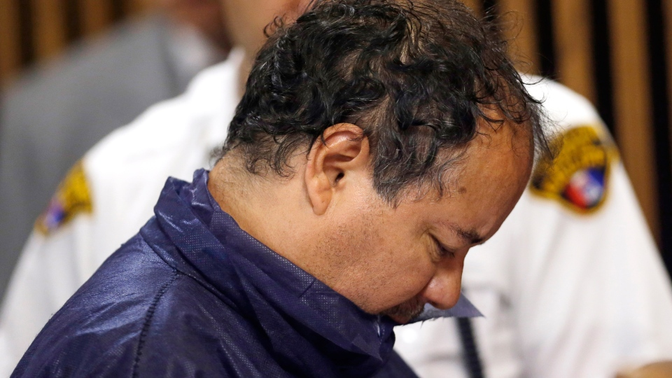Ariel Castro appears in Cleveland Municipal court, Thursday, May 9, 2013. (AP / Tony Dejak)