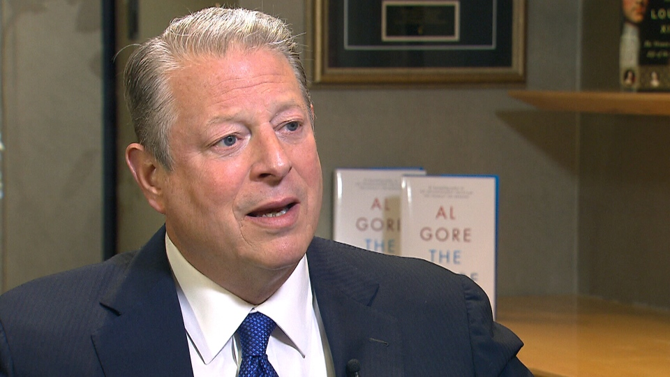 Former U.S. vice president Al Gore speaks to CTV's Canada AM on Thursday, May 9, 2013.