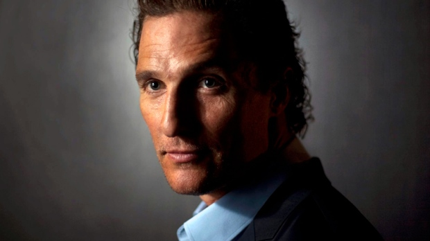 Matthew McConaughey poses in Toronto Tuesday, March 3, 2011. (Darren Calabrese / THE CANADIAN PRESS)