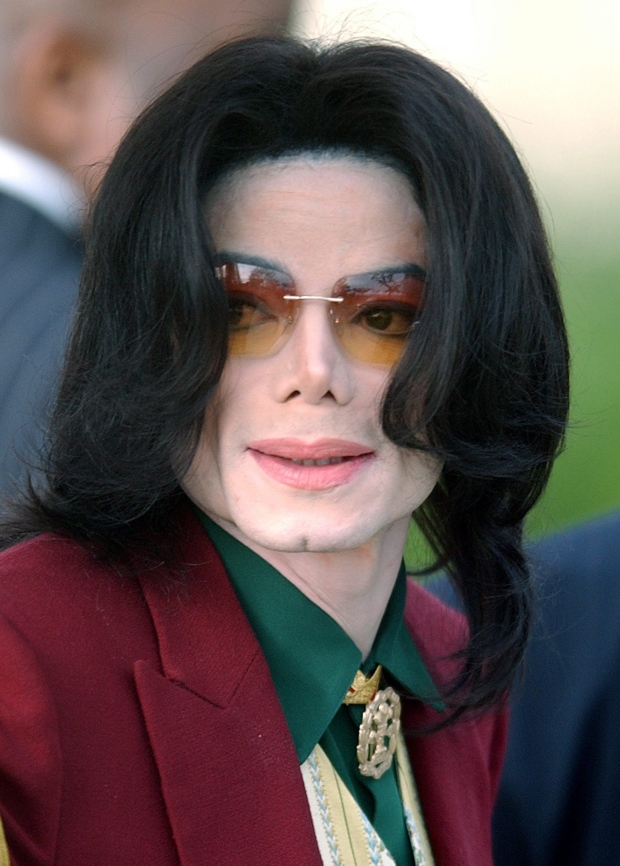 Michael Jackson arrives at the Santa Barbara County Courthouse in Santa Maria, Calif., in this March 17, 2005 file photo. (AP / Michael A. Mariant)