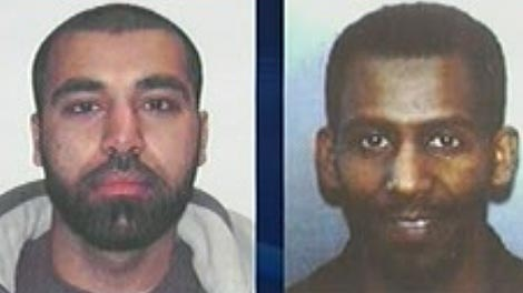 Maiwand Yar, 27, (left) and Ferid Ahmed Imam, 30, are wanted on warrants, said RCMP.