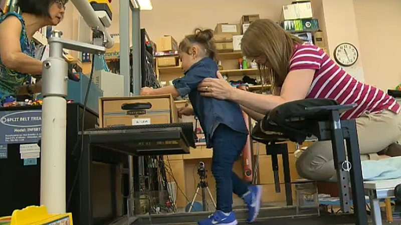 One in every 1,000 babies suffer from a stroke either in utero or shortly after birth. Edmonton researchers are trying to help those young child stroke patients regain mobility and learn how to walk.