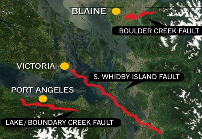 Maps Show Earthquake Fault Lines Run Into BC CTV Vancouver News - Us map of fault lines