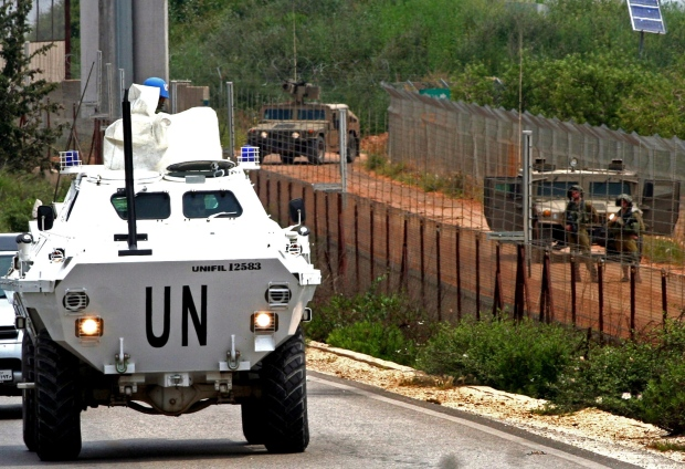 UN peacekeepers border