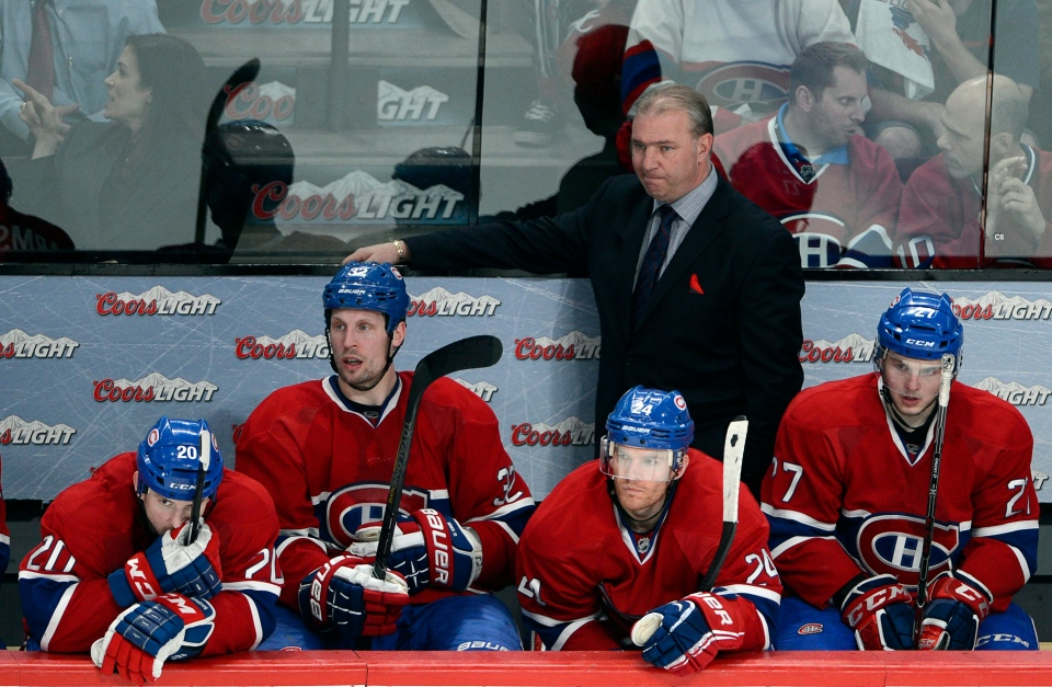 Montreal Canadiens head coach Michel Therrien watches the final seconds during third period of game five first round NHL Stanley Cup playoff hockey action against the Ottawa Senators Thursday, May 9, 2013 in Montreal. Ottawa won the game 6-1 to take the series 4-1.THE CANADIAN PRESS/Ryan Remiorz
