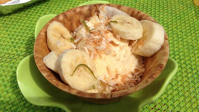 Banana-Lime Sundae.