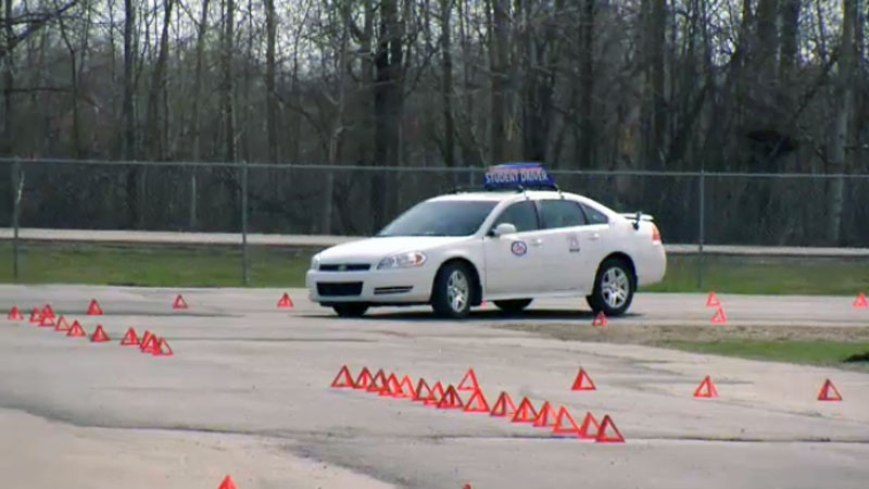 The distracted driving challenge at Castrol Raceway is one way Edmonton police are trying to spread the message about the dangers of distracted driving.