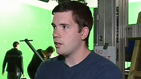 Edmonton Filmmaker Mark Twitchell is shown on a movie set in July, 2009.