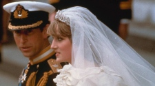 Prince Charles and his bride Diana, Princess of Wales, march down the aisle of St. Paul's Cathedral at the end of their wedding ceremony, July 29, 1981. (AP / FILE)