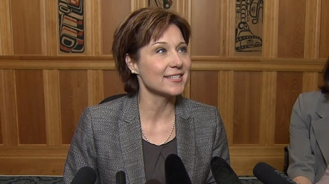 B.C. Premier Christy Clark announces an incremental increase in the minimum wage. March 16, 2011. (CTV)