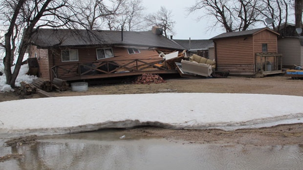 Extensive ice damage at Ochre Beach on Dauphin Lake. Photo courtesy Marc Glaseman.