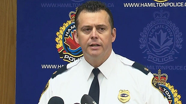 Supt. Dan Kinsella speaks to the media in Hamilton, Ont. on Saturday, May 11, 2013.