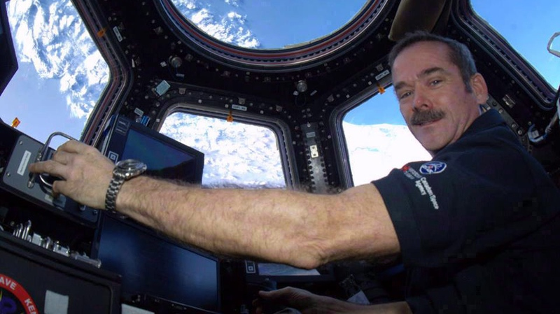 Canadian astronaut Chris Hadfield poses for a photo in this undated handout photo. (THE CANADIAN PRESS / Ho-Chris Hadfield)