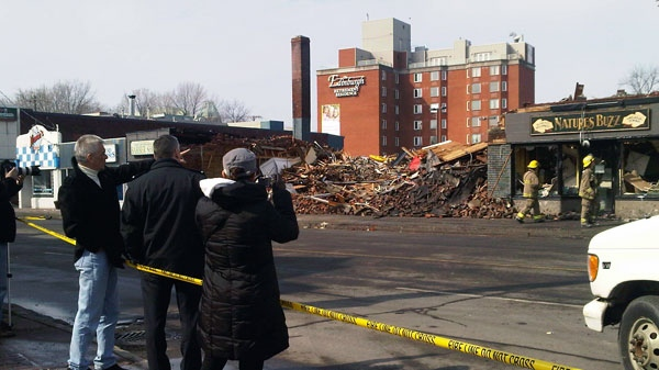 Rubble is all that is left at the site of a fire on Beechwood Avenue in Ottawa's New Edinburgh neighbourhood, Thursday, March 17, 2011.