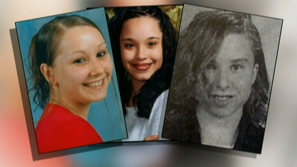 Amanda Berry, Gina DeJesus and Michelle Knight, seen in these images, were held captive in a Cleveland, Ohio house for about a decade.