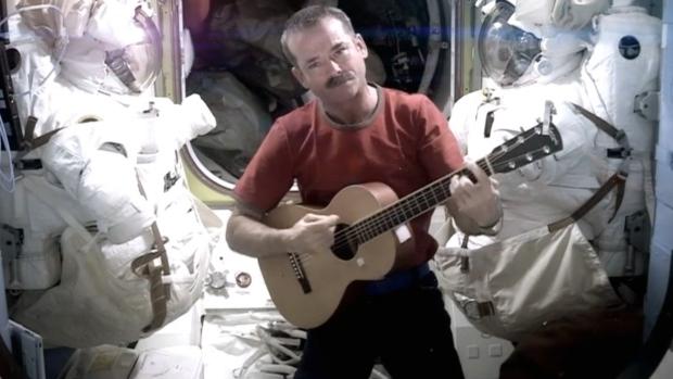 Hadfield music video space returns home