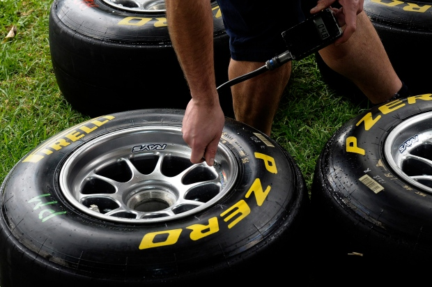 Pirelli tires on March 24, 2011.